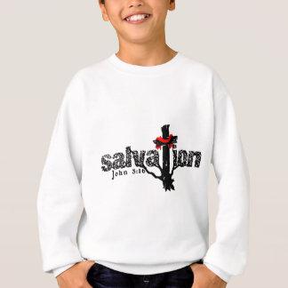 救助のジョンの3:16のクリスチャン スウェットシャツ