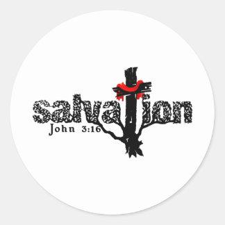 救助のジョンの3:16のクリスチャン ラウンドシール
