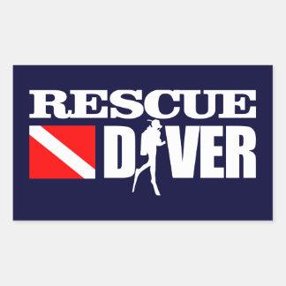 救助のダイバー2 長方形シール