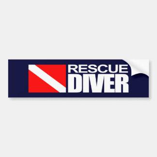 救助のダイバー4のバンパーステッカー バンパーステッカー