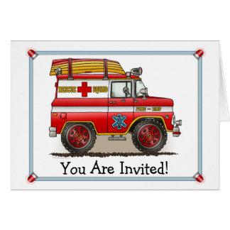 救助のヴァンの医学のパーティの招待状 カード