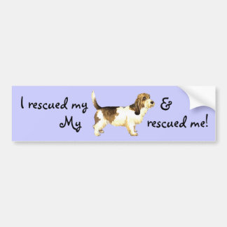 救助の小さいバセット犬Griffon Vendéen バンパーステッカー