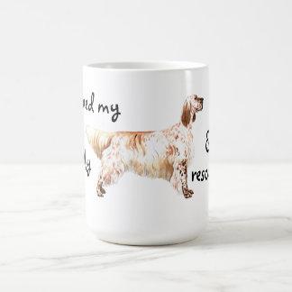 救助の英国セッター コーヒーマグカップ