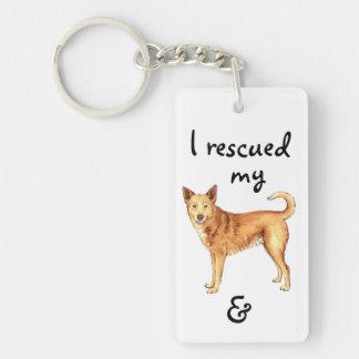 救助のCanaan犬 キーホルダー