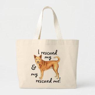 救助のCanaan犬 ラージトートバッグ