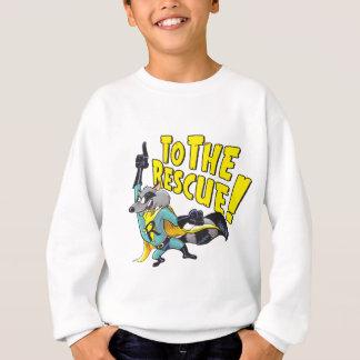 救助へのスーパーヒーローのアライグマ スウェットシャツ