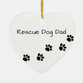 救助犬のパパ セラミックオーナメント