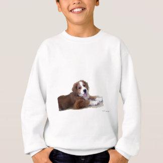 救助犬の相棒のスマイル スウェットシャツ