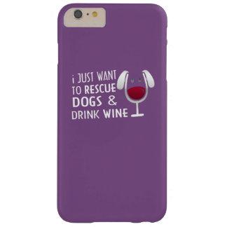 救助犬及び飲み物のワイン BARELY THERE iPhone 6 PLUS ケース