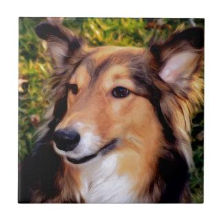 救助犬 タイル