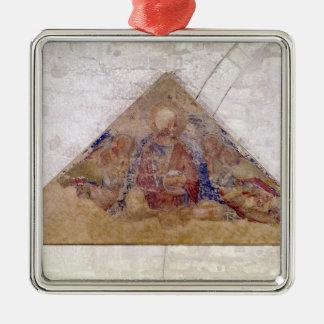 救助者の天恵1341年を描写するTympanum メタルオーナメント