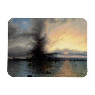 救助1837年の石(キャンバスの油) マグネット