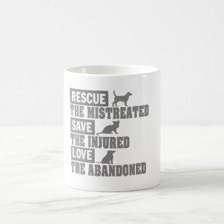 救助、保存、愛! コーヒーマグカップ