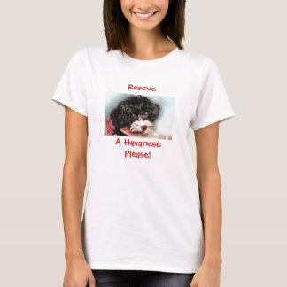 救助、HavanesePlease! Tシャツ