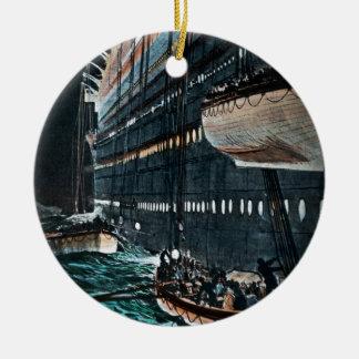 救命ボートのヴィンテージのRMSの巨大な進水 セラミックオーナメント