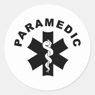 救急医療隊員EMSの救助のロゴ ラウンドシール