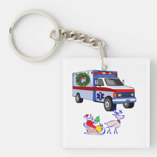 救急医療隊員EMTのクリスマス キーホルダー