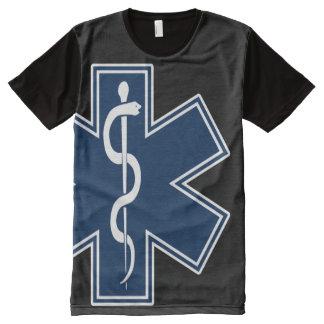 救急医療隊員EMT EMS オールオーバープリントT シャツ
