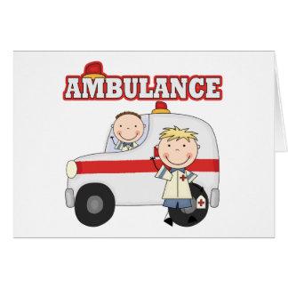 救急車のTシャツおよびギフト カード