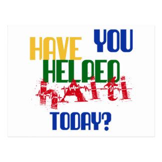 救済されたハイチ今日あります ポストカード