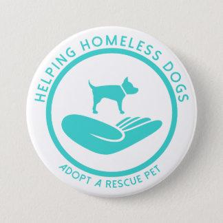 """""""救済しますホームレス犬""""を 7.6CM 丸型バッジ"""