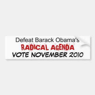 敗北のバラック・オバマの根本的な議題… バンパーステッカー