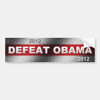 敗北オバマ2012年 バンパーステッカー