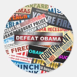 敗北オバマ2012年 ラウンドシール