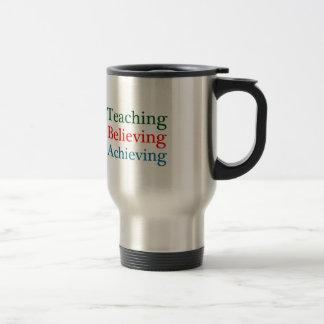 教えること達成を信じます トラベルマグ