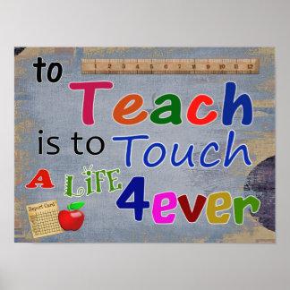 教えるため -- 芸術のプリント -- teachcerの感謝 ポスター