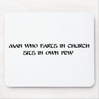 教会で屁をする人 マウスパッド
