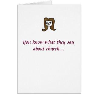 教会に来られる! グリーティングカード