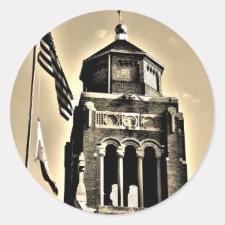 教会の旗 ラウンドシール