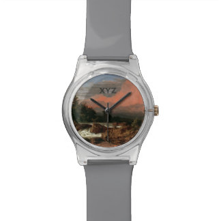 """教会の""""Rutlandはカスタムなモノグラムの腕時計""""下ります 腕時計"""