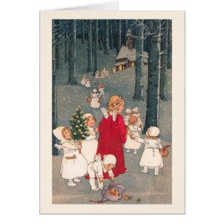 """""""教会への方法で""""クリスマスカード カード"""