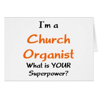 教会オルガン奏者 カード