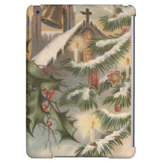 教会ヒイラギのクリスマスツリーの蝋燭のオーナメント iPad AIRケース