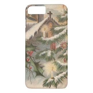 教会ヒイラギのクリスマスツリーの蝋燭のオーナメント iPhone 8 PLUS/7 PLUSケース