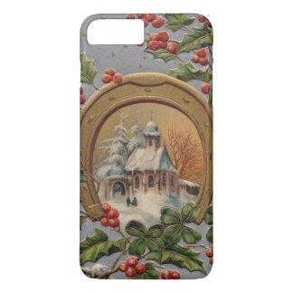 教会ヒイラギ4の葉のクローバーの金ゴールドの蹄鉄 iPhone 8 PLUS/7 PLUSケース