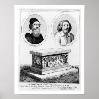 教会ヤードのTradescantsの記念碑 ポスター