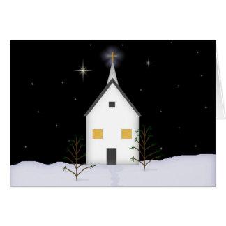 教会低い視野の記憶のクリスマスカード カード