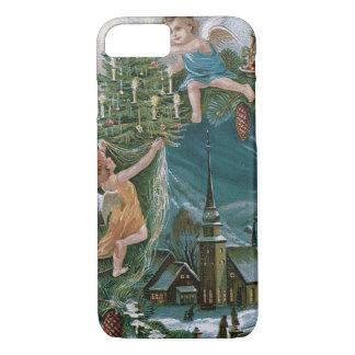 教会天使の天使のクリスマスツリー iPhone 8/7ケース