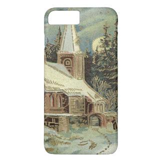 教会常緑樹は冬の雪を主演します iPhone 8 PLUS/7 PLUSケース
