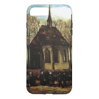 教会常連客が付いているNuenen -ゴッホのチャペル iPhone 8 Plus/7 Plusケース