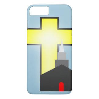 教会明るい十字のiPhone 7のプラスの箱のシルエットを描いて下さい iPhone 8 Plus/7 Plusケース