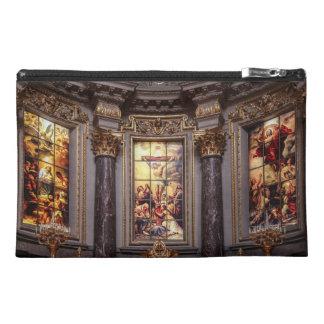 教会祭壇の祭壇の背後の飾りのglassart トラベルアクセサリーバッグ