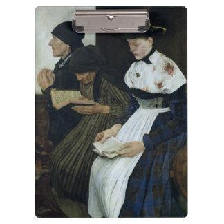 教会1882年の3人の女性 クリップボード