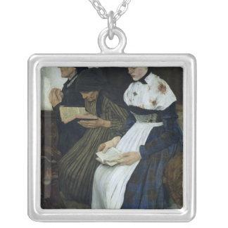 教会1882年の3人の女性 シルバープレートネックレス