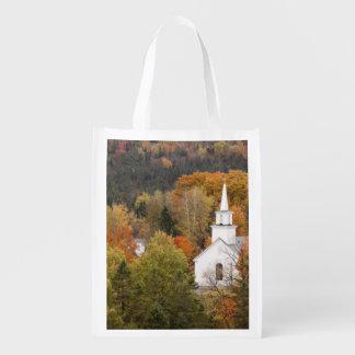 教会、ヴァーモント、米国との秋の景色 エコバッグ