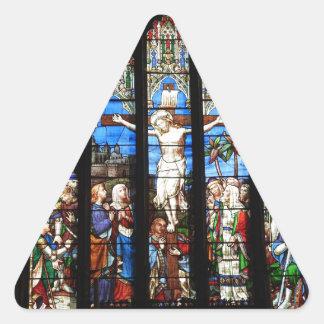 教会 三角形シール